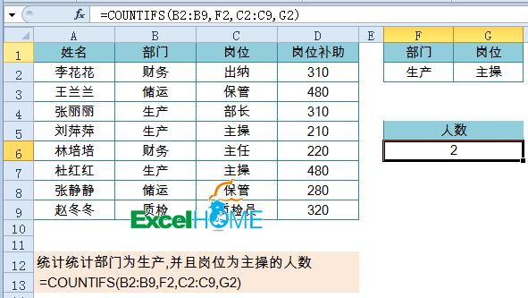 多条件统计很简单,月薪起步两千三插图(4)