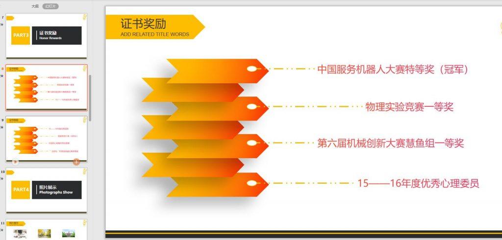 青春榜样个人介绍简历PPT通用模板——「epub」「mobi 」「azw3」「pdf」免费下载插图(1)